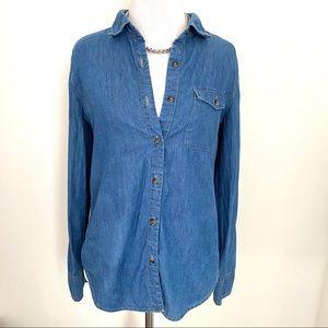 Tops - Trendy Vintage Denim Button Down Shirt/blouse/top